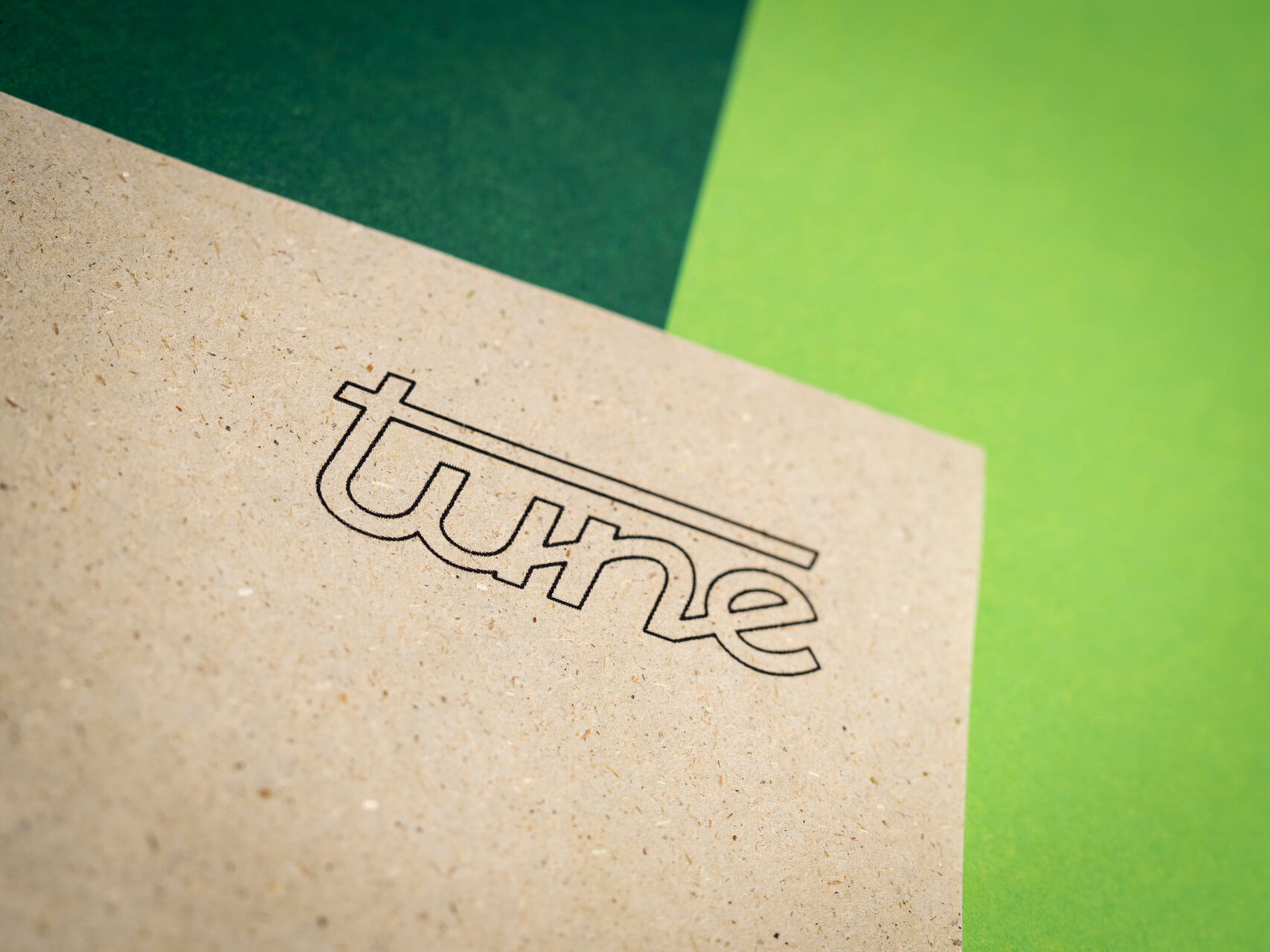 Sustainability - Grass based paper at tune